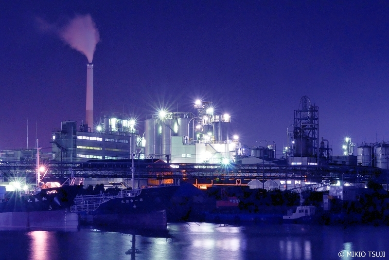 絶景探しの旅 - 0700 周南コンビナートの蒼い工場夜景 (山口県 周南市)