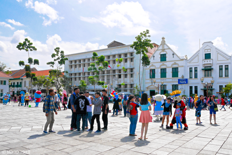 絶景探しの旅 - 0708 東インド会社時代の建物の残る広場 (ファタヒラ広場/インドネシア ジャカルタ)